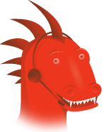 Gormozilla was a particularly gormless-looking picture of Mozilla - mouth open, eyes staring impassively - complete with a tech-support headset.