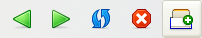 Firefox's New Tab button looks like a slice of toast sitting in a toaster - with an overlaid plus symbol, of course.